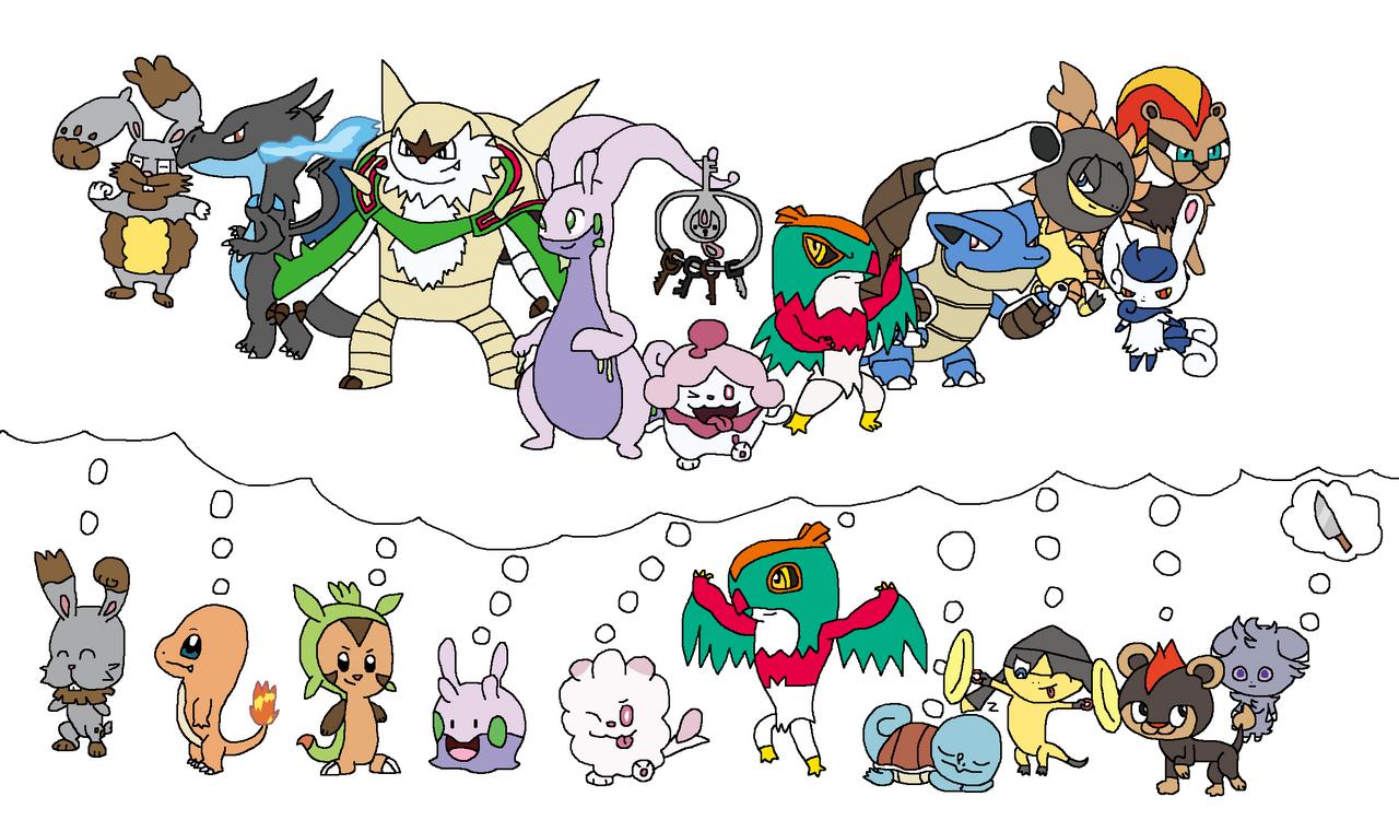 My Pokemon Y Team Drawn By Joltiklover On Deviantart