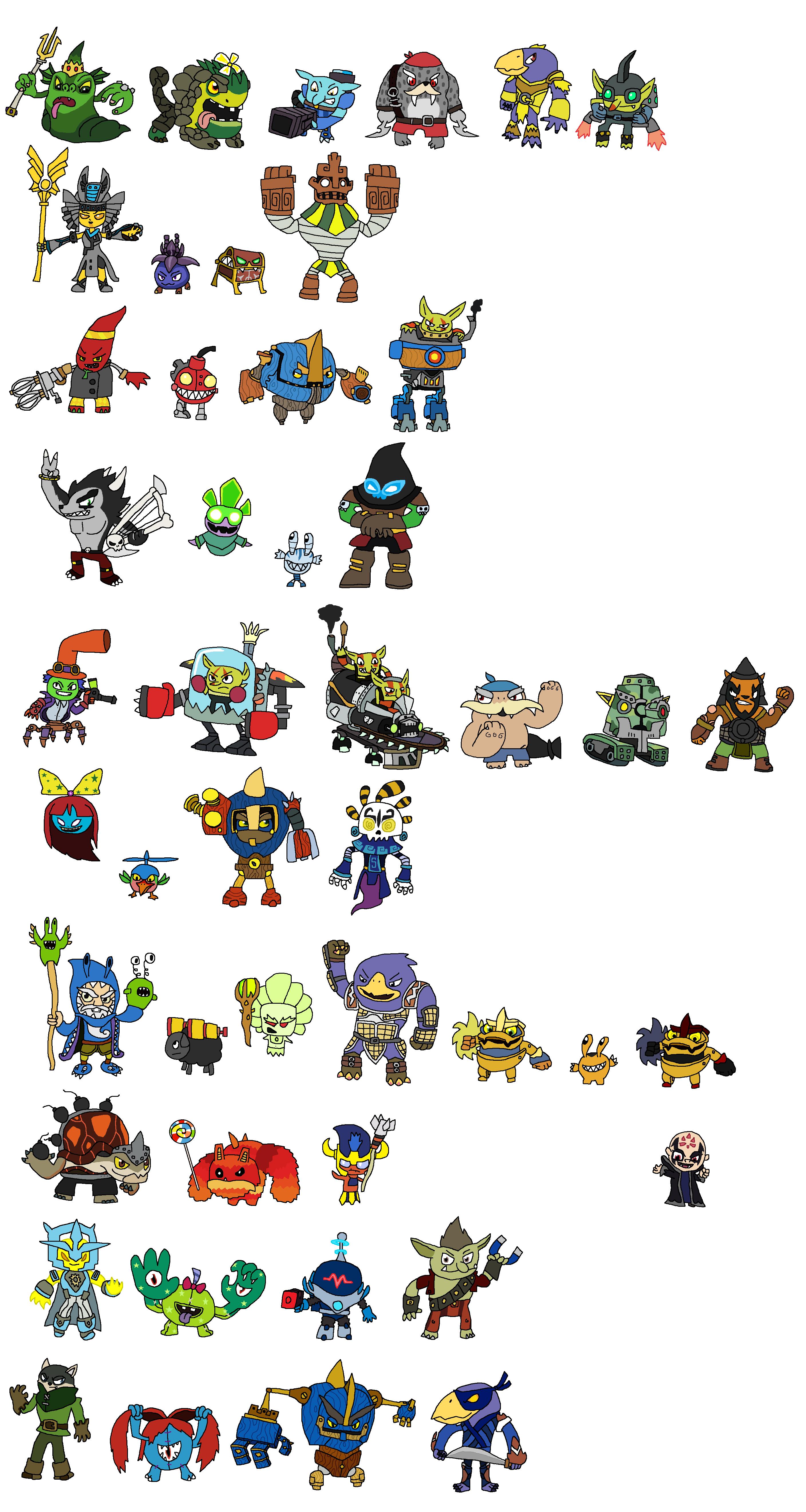 Skylanders Trap Team Villains - Evolved by JoltikLover on ...