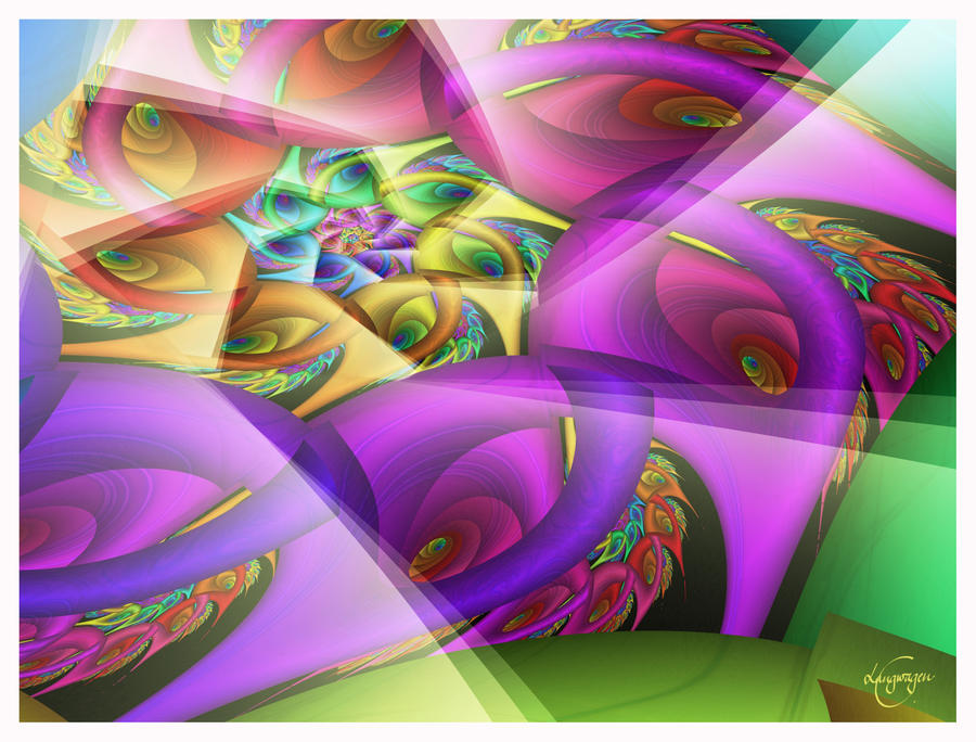 Rainbow carousel by CassiopeiaArt