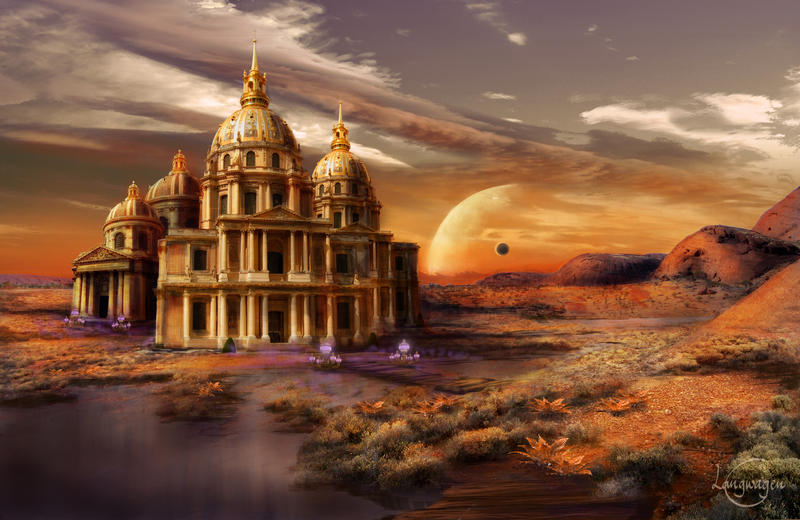 Desert Palace by CassiopeiaArt