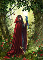 Elven glade by CassiopeiaArt
