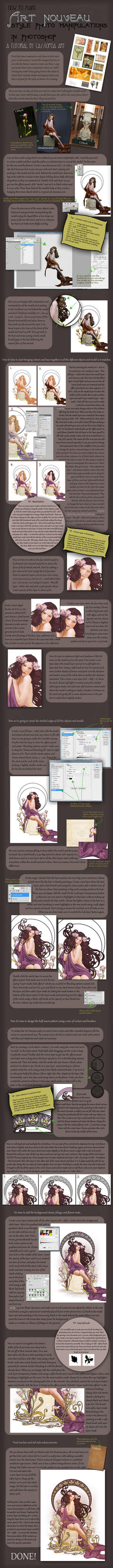 Art Nouveau Tutorial by CassiopeiaArt