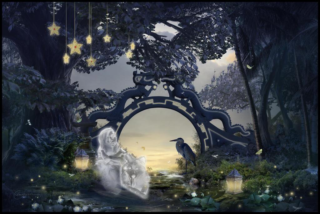 Serenity Garden by CassiopeiaArt