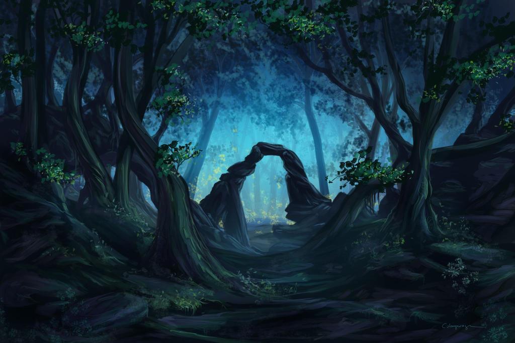 http://fc01.deviantart.net/fs70/i/2012/087/3/9/the_blue_forest_by_cassiopeiaart-d4ix2as.jpg
