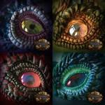Clay dragon eyes