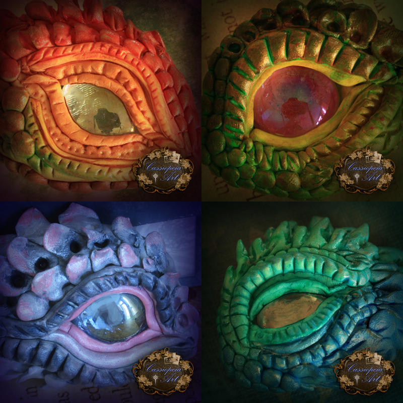 More Clay Dragon Eyes By Cassiopeiaart On Deviantart
