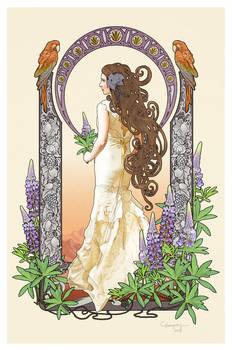 Art Nouveau bride - commission