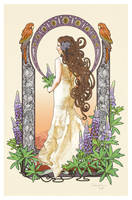 Art Nouveau bride - commission by CassiopeiaArt