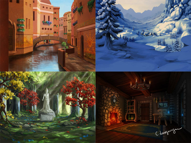 Backgrounds game 1 by CassiopeiaArt