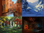 Backgrounds game 1