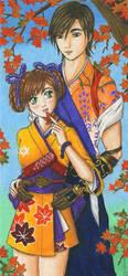 Kurando and Anastasia by AyaneShinobi