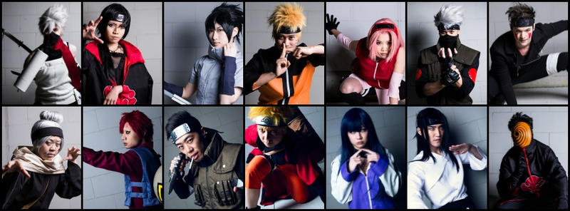 Naruto Shippuden Group Collage by Kurai-Hisaki