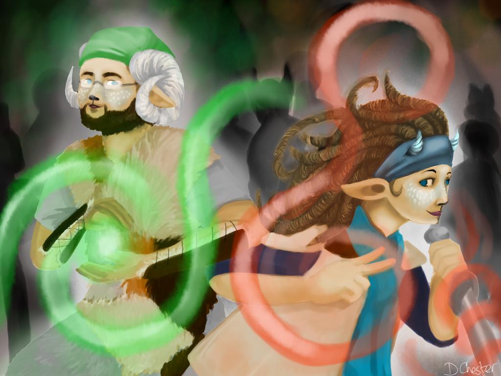 COM: Kinash and Grurir by DawnKestrel