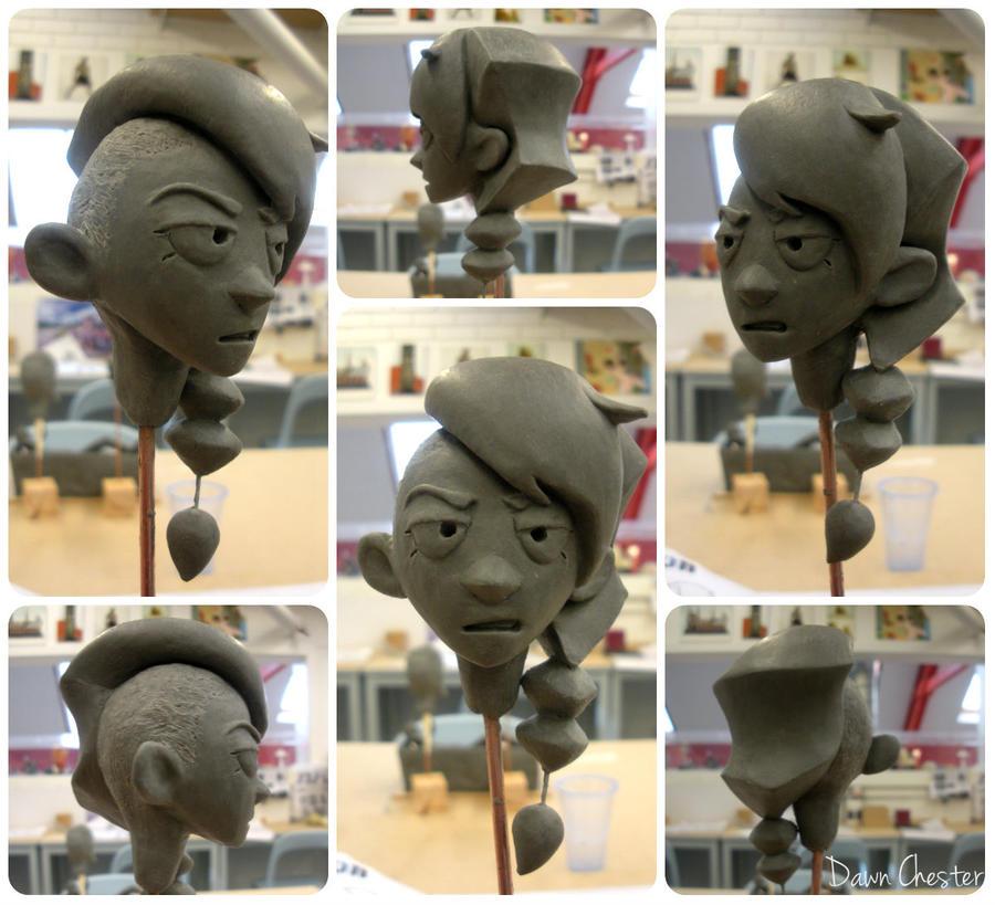 Ranger head sculpt by DawnKestrel