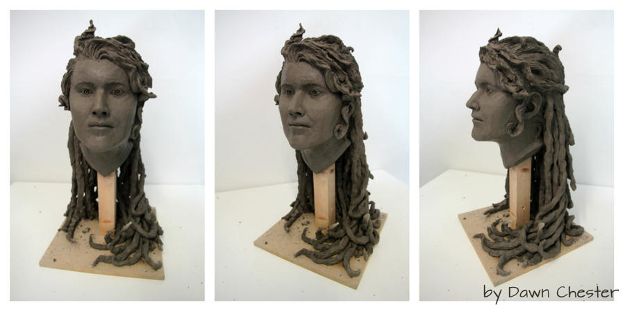 First Head Sculpt by DawnKestrel