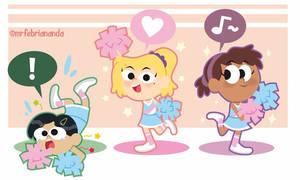 Amphibia Cheerleaders!