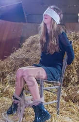 Chair tied and blindfolded (stock footage)  by melinafan89