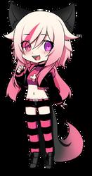chibi version of Rikka Hashimoto full body by DarkFlower31