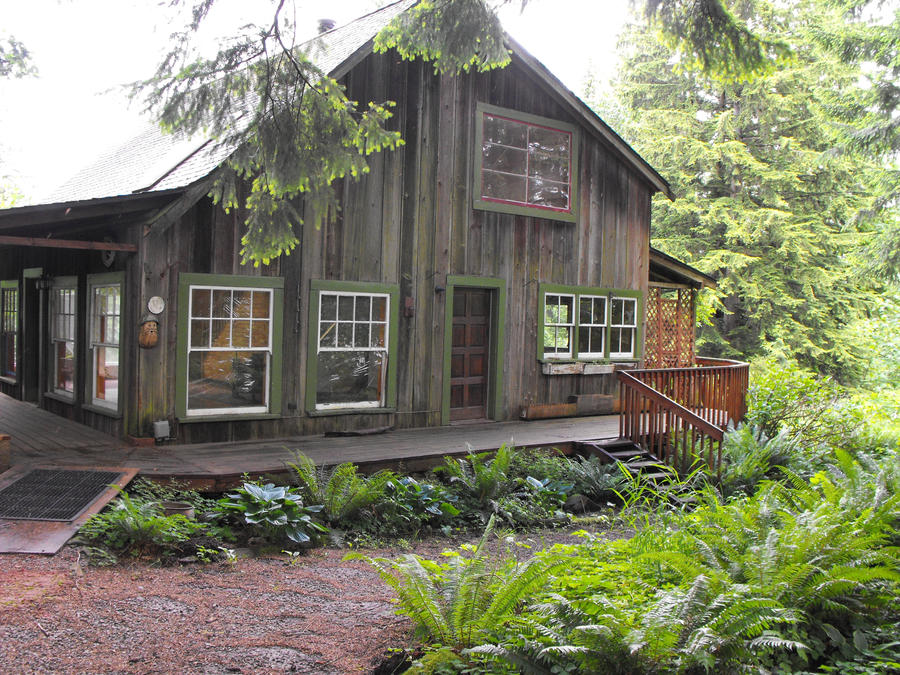 Rustic house in the woods of oregon by gregorywoodl on for Rustic wood homes