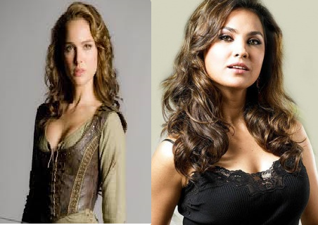 Lara Dutta and Natalie Portman by SonaXshi