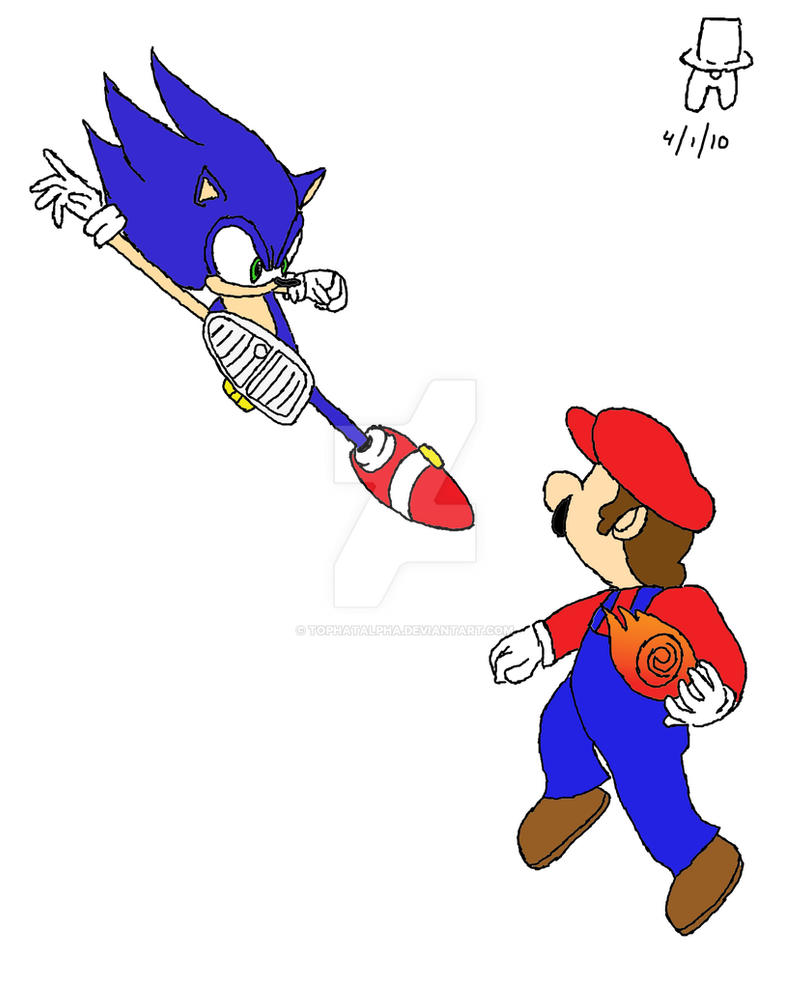 Mario vs Sonic Color by TopHatAlpha on DeviantArt