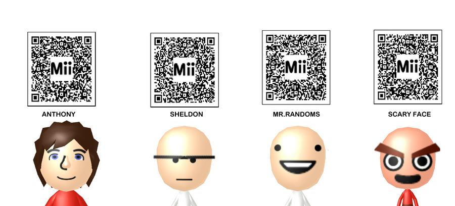 Mr randoms scary face mii qr codes by sheldonrandoms on deviantart