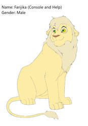 Lion king male lineart