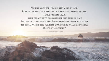 Fear is the mind-killer. by phoenixwholistic