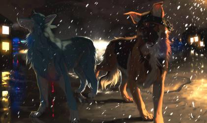 Night Walk With A Strange by Wavyrr
