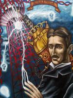 Nikola Tesla by MarjorieCarmona