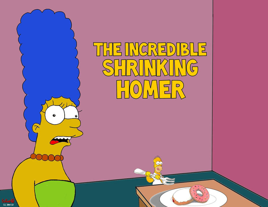 Incredible Shrinking Homer II by Gulliver63