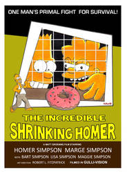 Incredible Shrinking Homer Poster