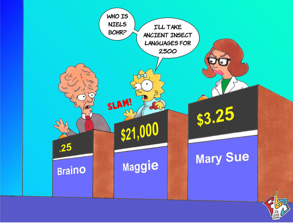 Cartoon Characters Jeopardy : Maggie in jeopardy by gulliver on deviantart
