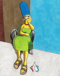 Marge in Brown Leather Birks