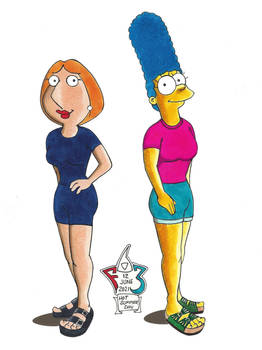 Lois and Marge Hot June