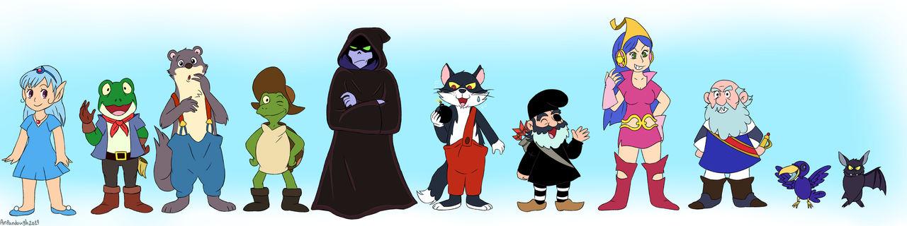 Bosco Adventure characters