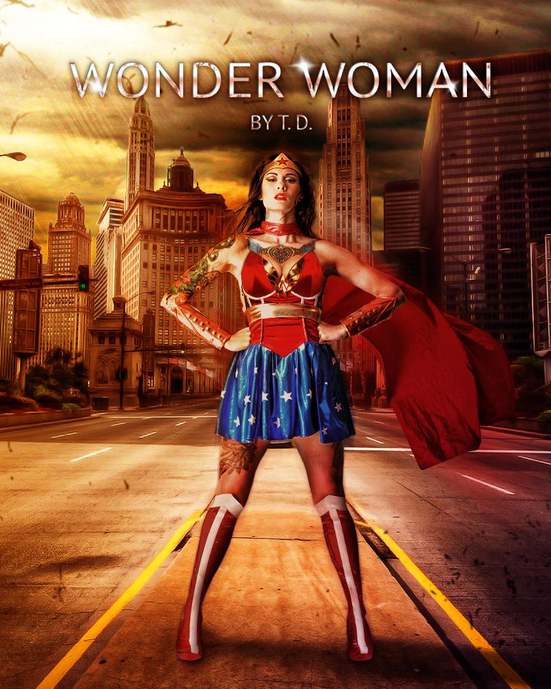 Tattooed Wonder Woman by Ptitoom