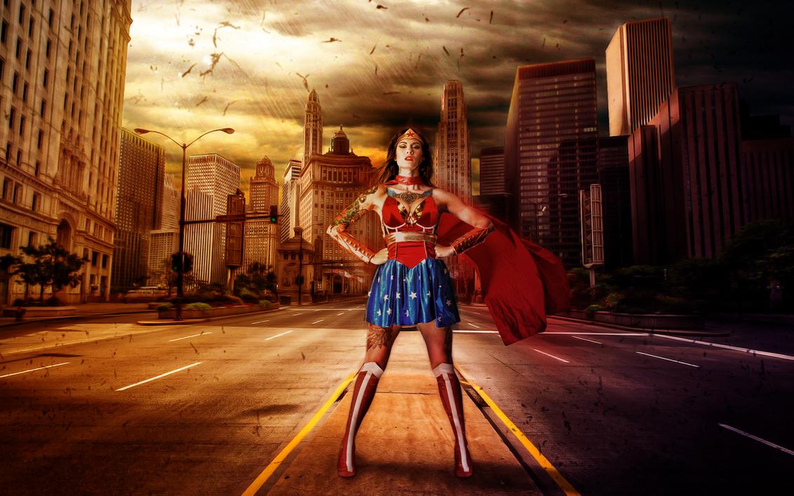 Tattooed Wonder Woman Wallpaper by Ptitoom
