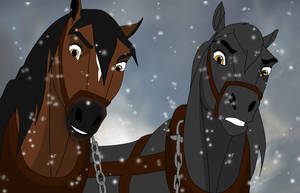 War Horse-Joey and Topthorn by JeweledFaith