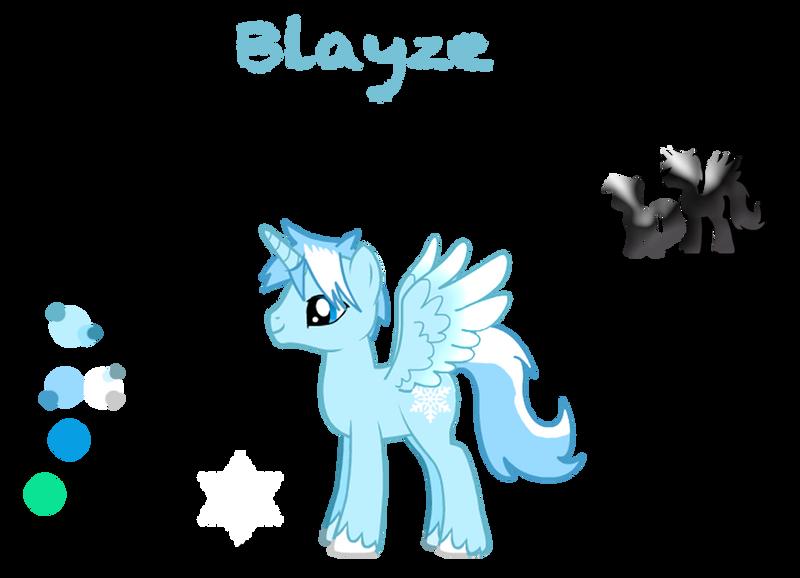 Blayze-MLP: FiM OC Character Reference Sheet by JeweledFaith