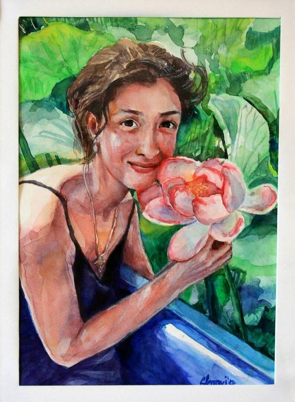 :) watercolor portrait by glenavi