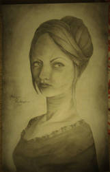 Portrait of a woman by Snaha00