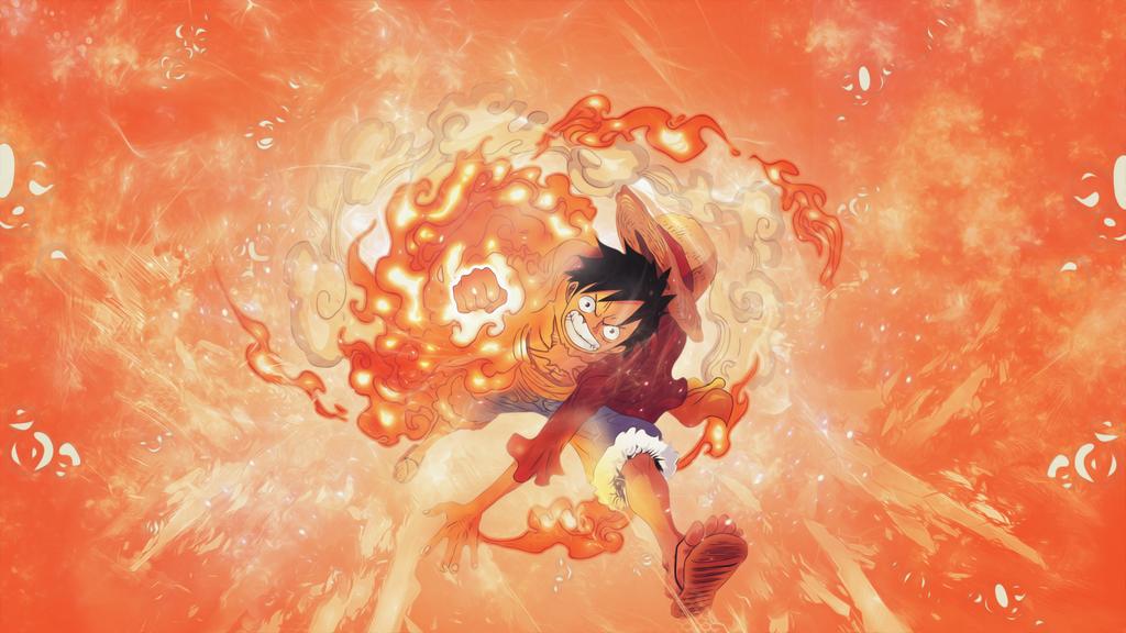 Luffy Gomu Gomu no Red Hawk (One Piece) by Rinjaa on ...