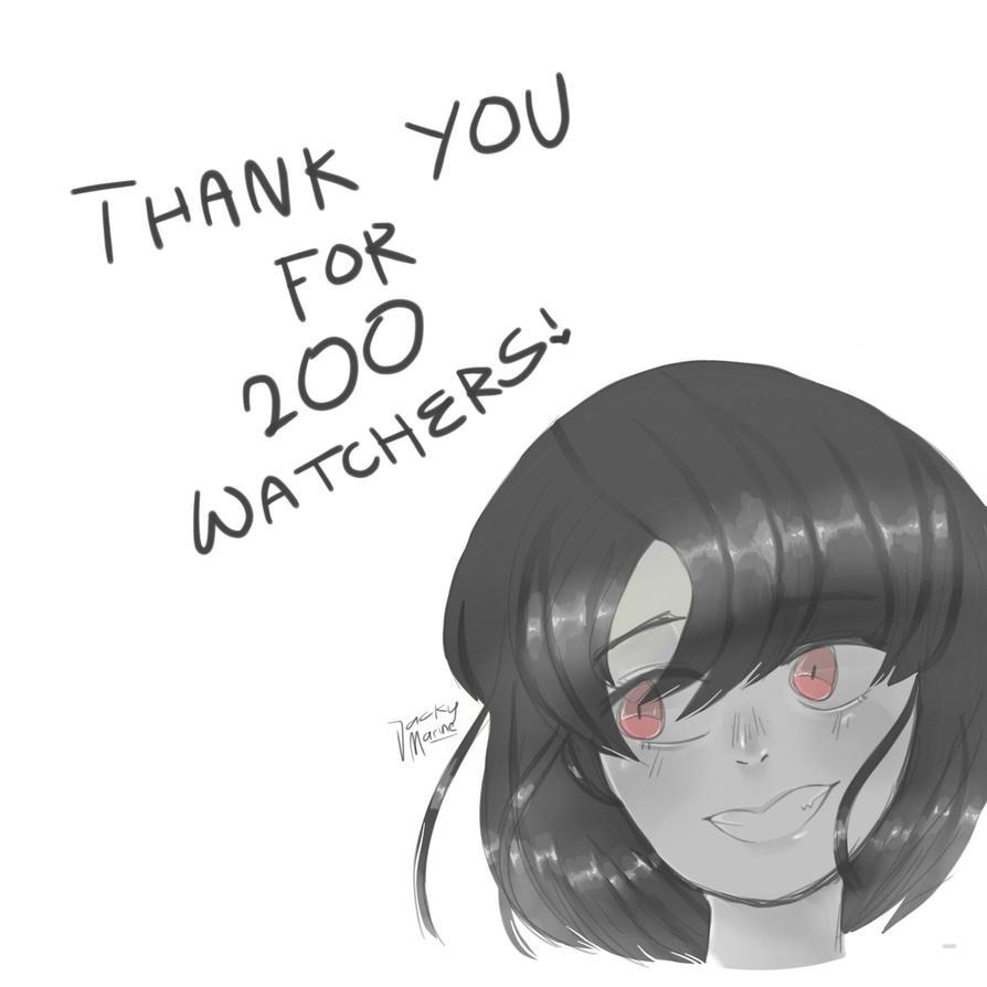 200 watchers!!! by jackyMarine