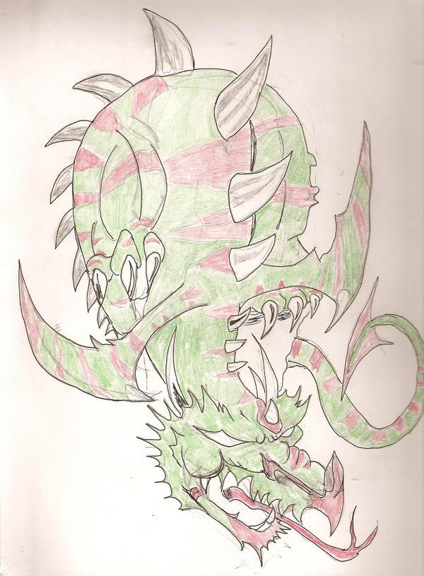 Shoulder Dragon design - shoulder tattoo