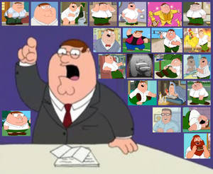 Peter Griffin Character Collage by Austria-Man