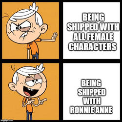 Lincoln likes being shipped with Ronnie Anne