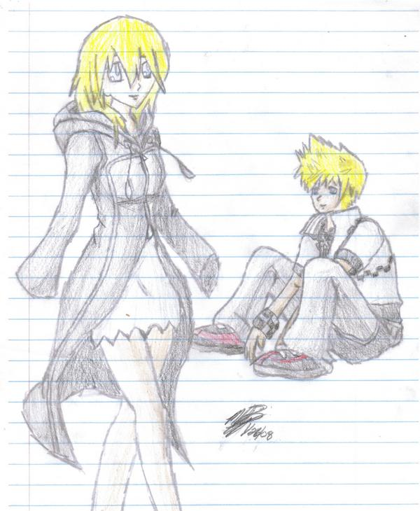 Namine and Roxas by fallensoldier420