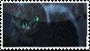 Tim Burton's Cheshire stamp by OoBloodyRavenoO