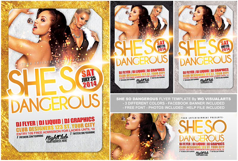 Free Flyer PSD Template She So Dangerous by WGVISUALARTS